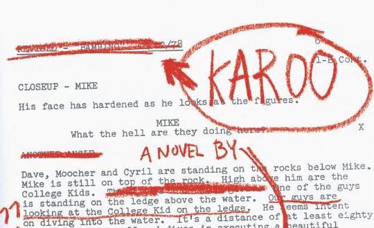 particolare di copertina dell'edizione inglese di Karoo, Open City Books