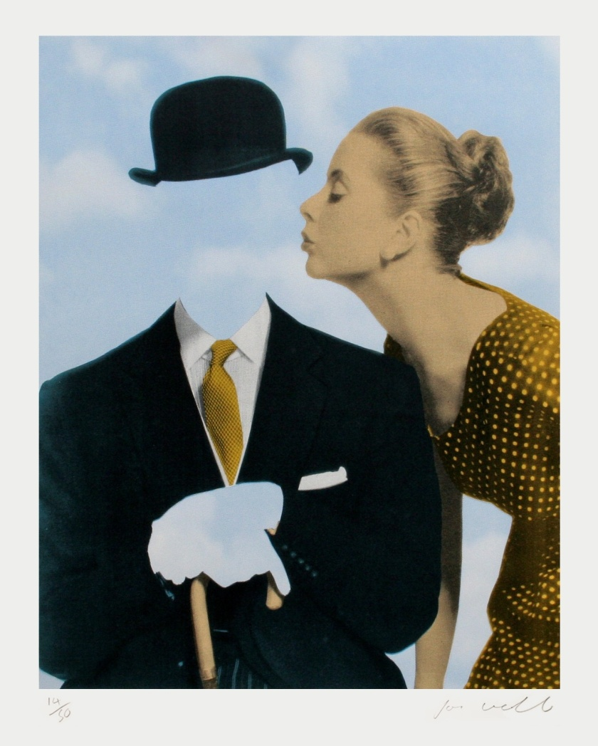Kissing Magritte by Joe Webb
