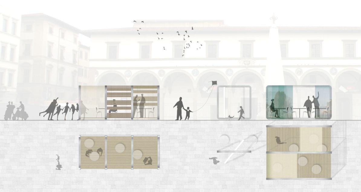 progetto di architettura di Filomena Fusco per dehors nel centro storico di Firenze (si trova qui:http://divisare.com/projects/211483-filomena-fusco-giuseppe-di-costanzo-carmen-tuccillo-dehors-per-firenze) nel bellissimo sito DIVISARE