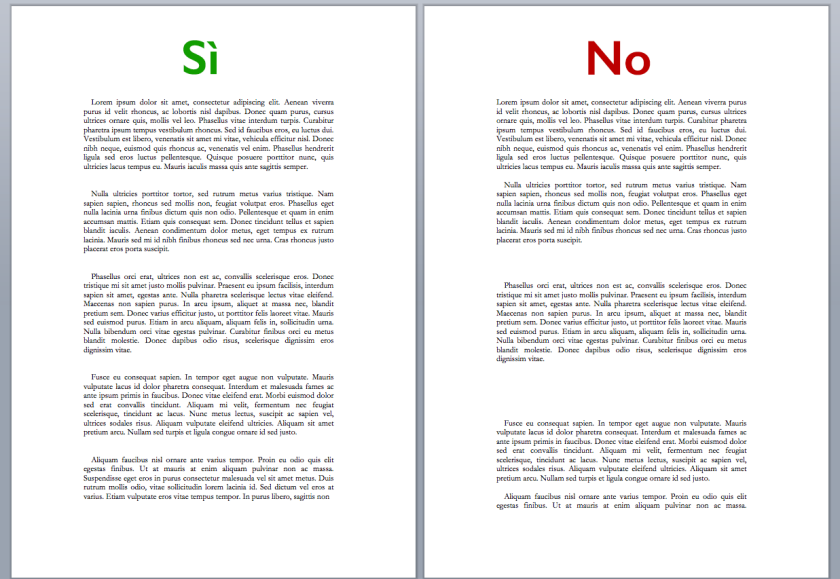 separazione paragrafi copia